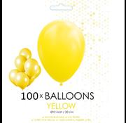 100 ballonnen geel