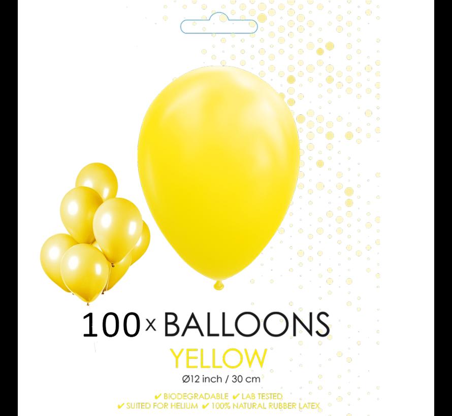 100 ballonnen geel 12 inch