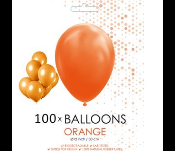 100 ballonnen oranje