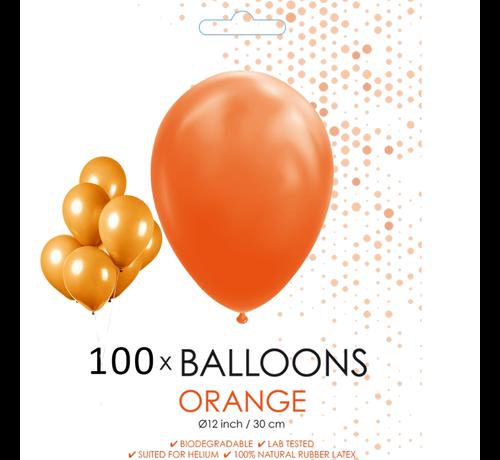 100 ballonnen oranje 12 inch