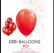 100 ballonnen rood
