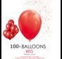 100 ballonnen rood 12 inch