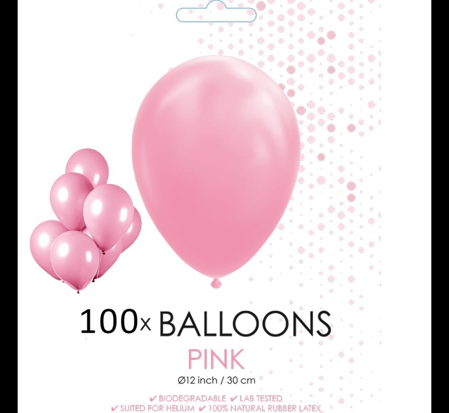 100 ballonnen roze 12 inch