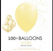 100 ballonnen ivoor
