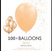 100 ballonnen huidskleur