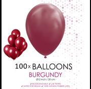 100 ballonnen bordeaux rood