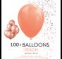 100 ballonnen perzik 12 inch