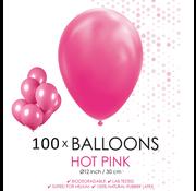 100 ballonnen donker roze