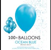100 ballonnen oceaan blauw
