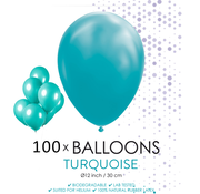 100 ballonnen turquoise