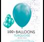 100 ballonnen turquoise 12 inch