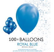 100 ballonnen royaal blauw