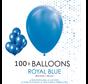 100 ballonnen royaal blauw 12 inch