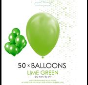 50 ballonnen lime groen