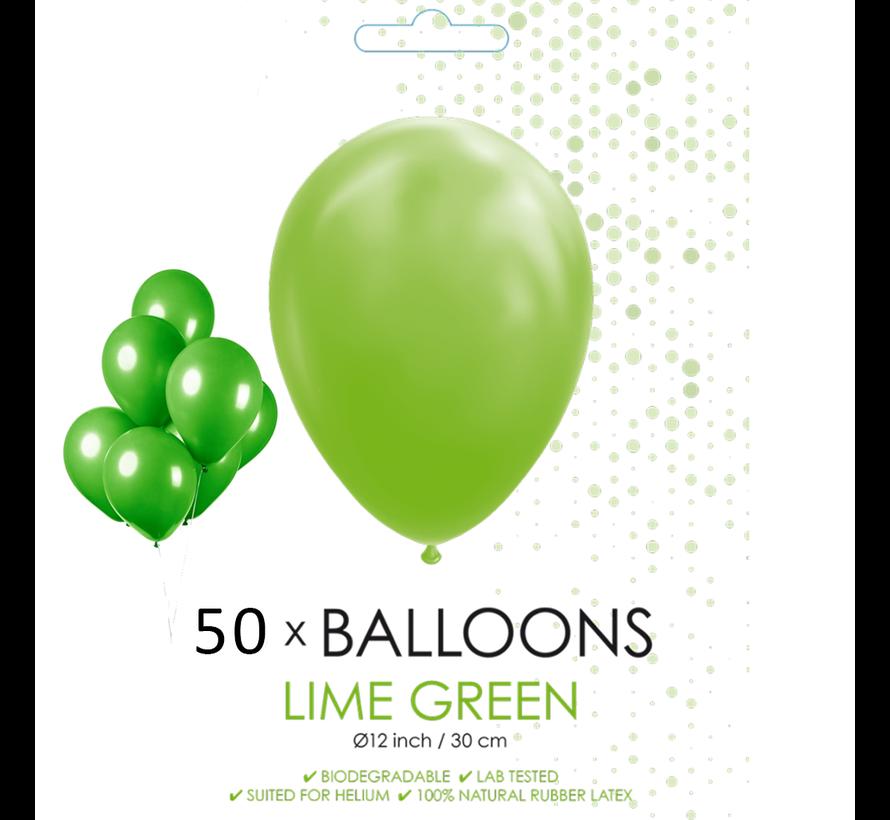 50 ballonnen lime groen 12 inch