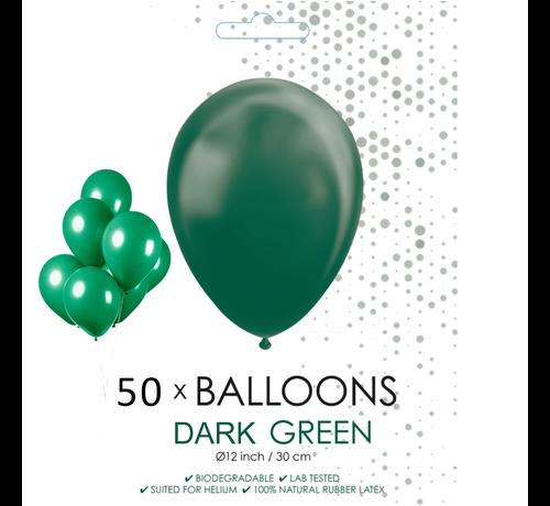 50 ballonnen donker groen 12 inch