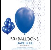 50 ballonnen donker blauw