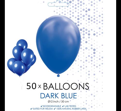 50 ballonnen donker blauw 12 inch