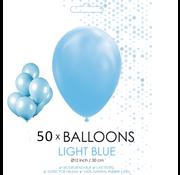 50 ballonnen licht blauw