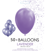 50 ballonnen lavendel