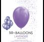 50 ballonnen lavendel 12 inch