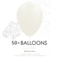 50 ballonnen doorzichtig 12 inch