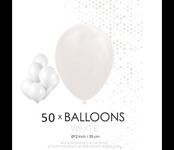 50 ballonnen wit
