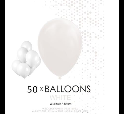 50 ballonnen wit 12 inch