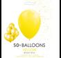 50 ballonnen geel 12 inch