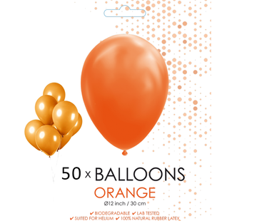50 ballonnen oranje