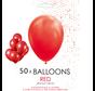 50 ballonnen rood 12 inch
