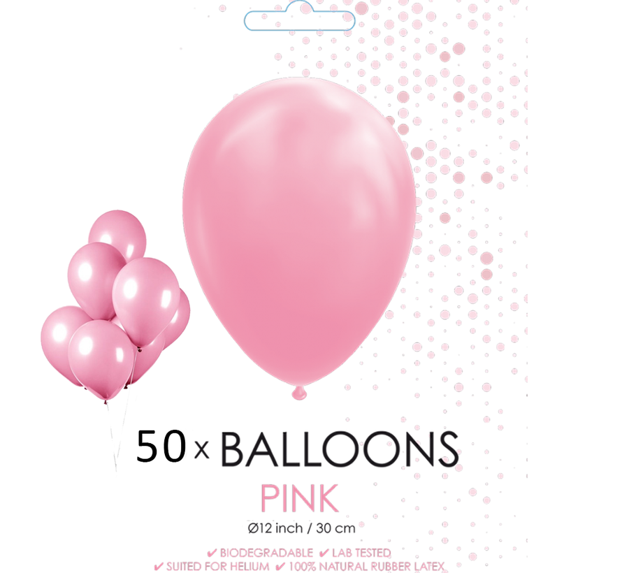 50 ballonnen roze 12 inch
