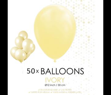 50 ballonnen ivoor