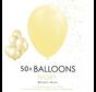 50 ballonnen ivoor 12 inch