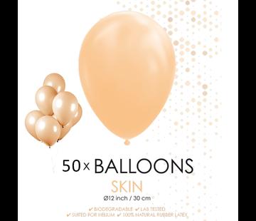 50 ballonnen huidskleur