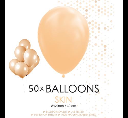 50 ballonnen huidskleur 12 inch