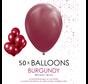 50 ballonnen bordeaux rood 12 inch