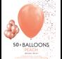 50 ballonnen perzik 12 inch