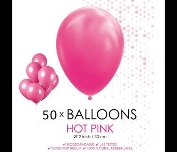 50 ballonnen donker roze