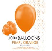Parel oranje ballonnen