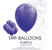 100 ballonnen paars