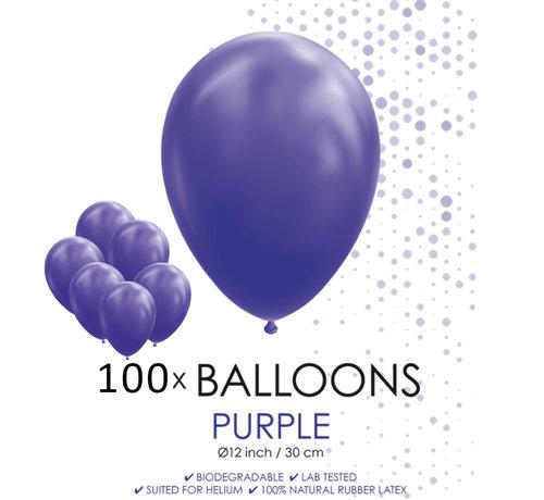 100 ballonnen paars 12 inch
