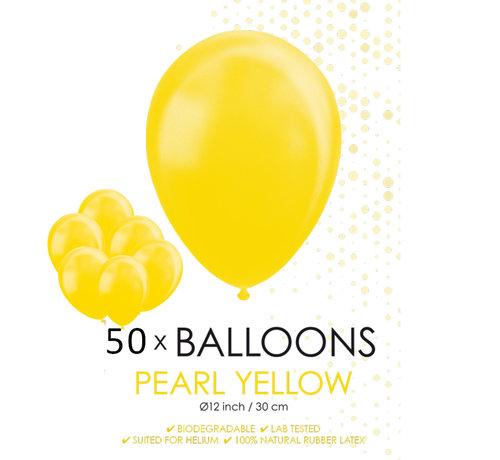 50 Parel gele ballonnen 30 cm