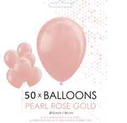 Pearl rosé goud ballonnen