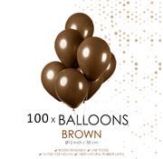 100 ballonnen bruin