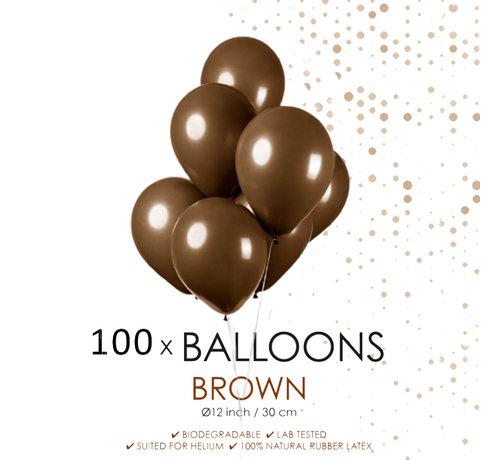 100 ballonnen bruin 12 inch