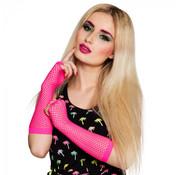 Handschoenen elleboog roze