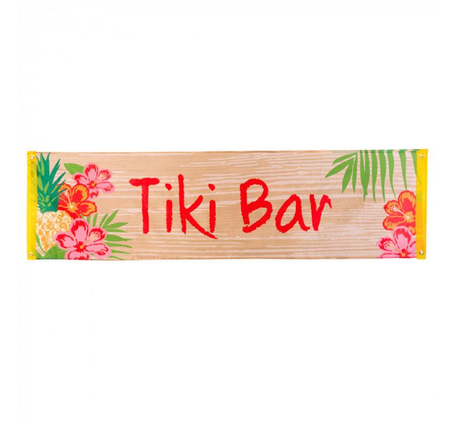 Polyester tropische banner 'Tiki Bar'