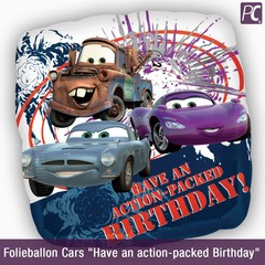 """Folieballon Cars """"Have an action-packed Birthday"""""""