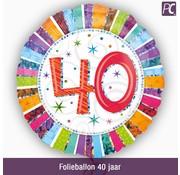 Folieballon 40 jaar